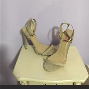 Suede Strappy Heels JustFab Size 9